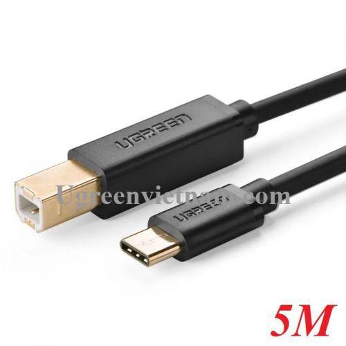 Ugreen 30183 5M màu đen Dây USB Type-C sang USB 2.0 đầu mạ vàng  US152