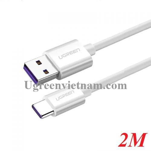 Ugreen 40889 2M màu trắng Dây USB sang USB Type-C vỏ ABS US253