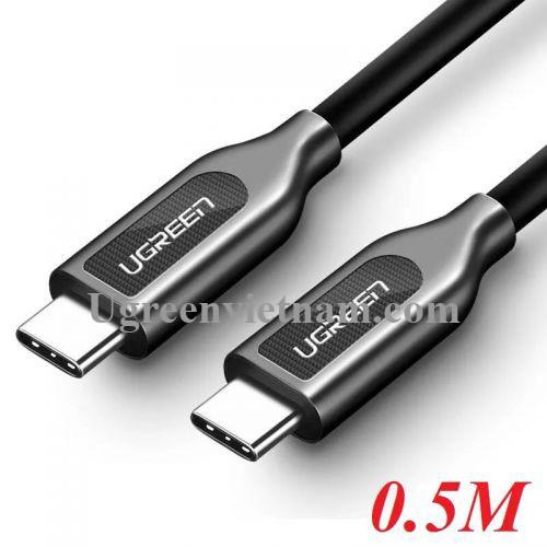 Ugreen 50229 0.5M màu đen Dây USB Type-C sang USB Type-C US266