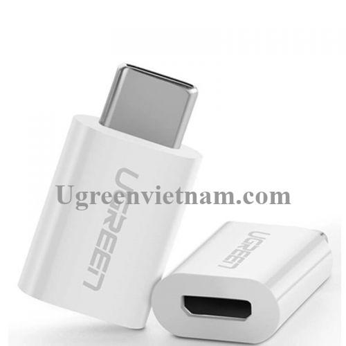 Ugreen 30154 Màu Trắng Đầu chuyển đổi TYPE C sang MICRO USB vỏ nhựa ABS US157