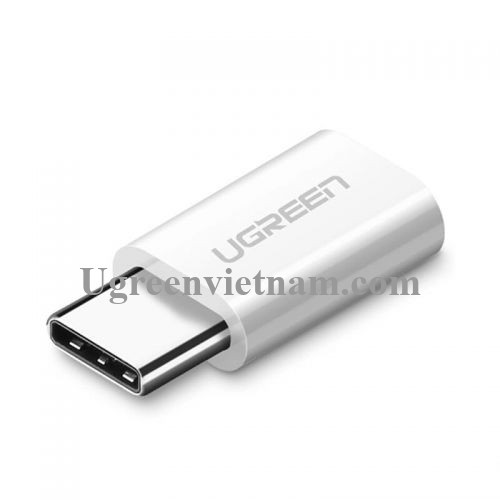 Ugreen 30864 Màu Trắng Đầu chuyển đổi TYPE C sang MICRO USB vỏ nhựa ABS US157