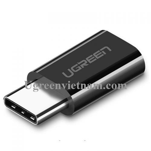 Ugreen 30865 Màu Đen Đầu chuyển đổi TYPE C sang MICRO USB vỏ nhựa ABS US157