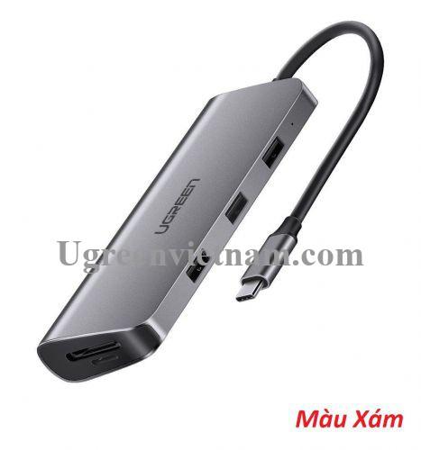 Ugreen 70305 type c Bộ chuyển đổi ra 3*USB3.0 + HDMI + VGA + DP + SD - TF + hỗ trợ PD + cổng DC docking CM280 20070305