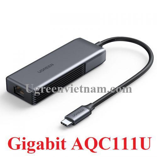 Ugreen 70604 Bộ chuyển đổi USB type C 3.1 sang 5G Lan Card màu ghi xám CM312 20070604