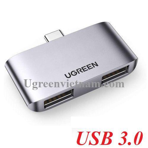 Ugreen 10912 Hub USB type C sang 2 x USB 3.0 Bộ chuyển đổi CM412 20010912