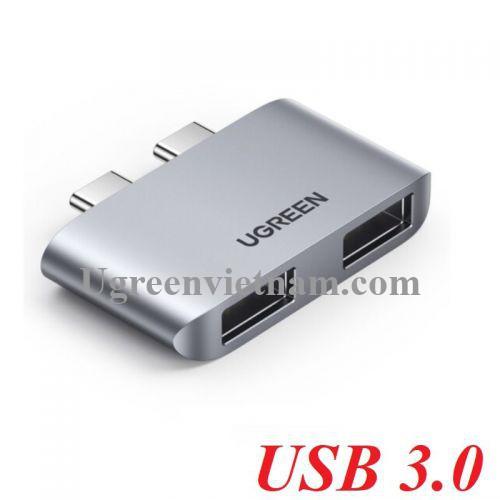Ugreen 10913 macbook hub 2 x USB type c ra 2 x USB 3.0 CM413 20010913