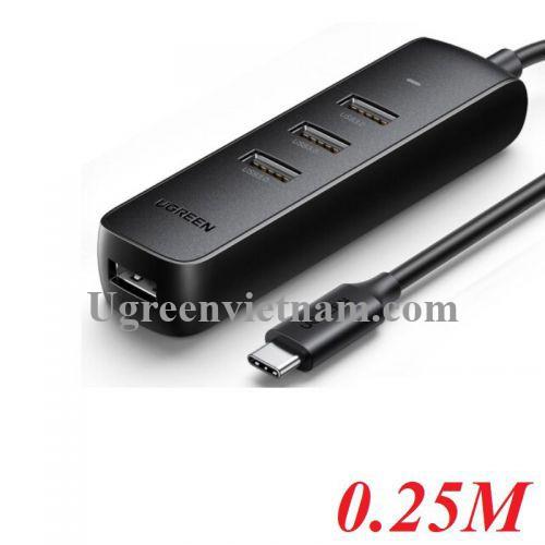Ugreen 10916 20cm Hub 4 * USB 3.0 từ 1 cổng Type c CM416 20010916