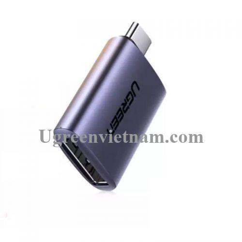 Ugreen 70451 4K 60Hz USB type C sang DP Đầu đổi vỏ nhôm màu xám us321 20070451