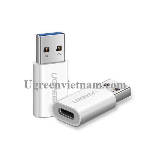 Ugreen 40932 Màu Trắng Đầu chuyển đổi USB 3.0 dương sang TYPE C 3.1 âm US204