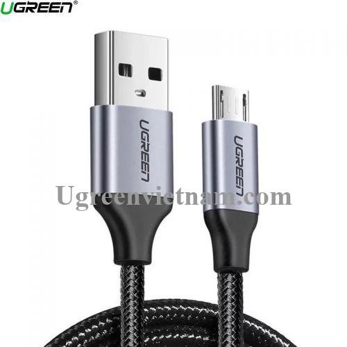 Ugreen 60403 3M QC3.0 màu đen đầu bọc nhôm chống nhiễu cáp Micro sang USB 2.0 sạc và truyền dữ liệu từ máy tính ra điện thoại US290 20060403