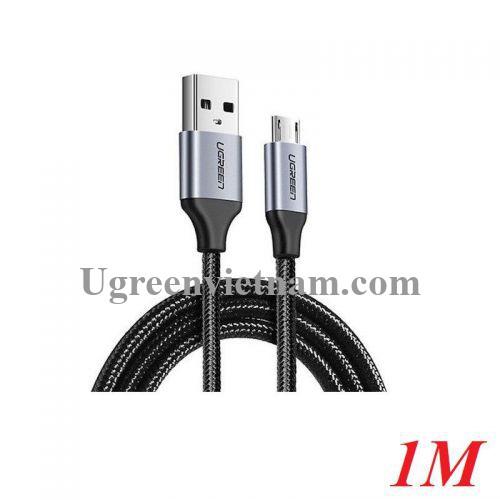Ugreen 60146 1M màu Đen Cáp sạc truyền dữ liệu USB 2.0 sang MICRO USB vỏ dây bọc lưới US290 20060146