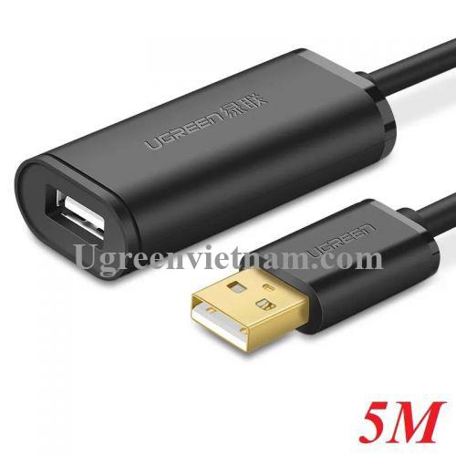 Ugreen 10319 5M màu Đen Cáp tín hiệu nối dài USB 2.0 có chip khuếch đại cao cấp US121 20010319