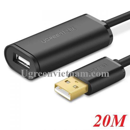 Ugreen 10324 20M màu Đen Cáp tín hiệu nối dài USB 2.0 có chip khuếch đại cao cấp US121 20010324