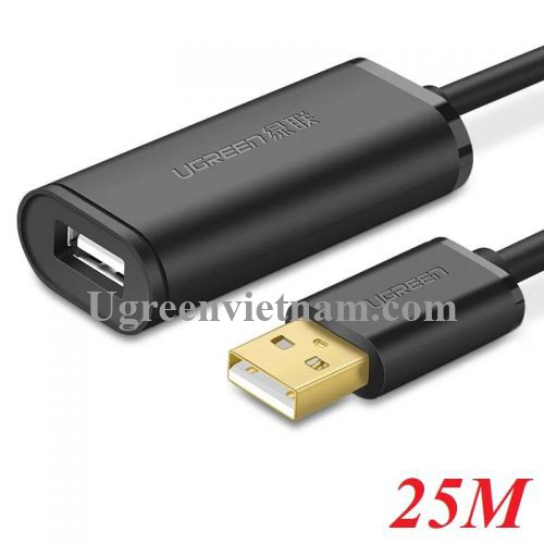 Ugreen 10325 25M màu Đen Cáp tín hiệu nối dài USB 2.0 có chip khuếch đại cao cấp US121 20010325