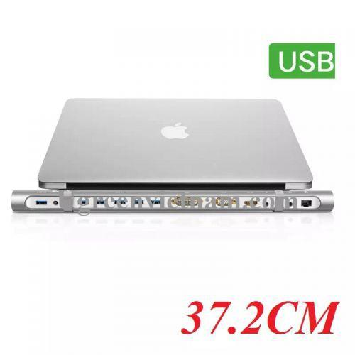 Ugreen 40258 Bộ chuyển HUB sang 5 USB 3.0 + DVI + VGA + HDMI + âm thanh + LAN hỗ trợ nguồn cao cấp 40258