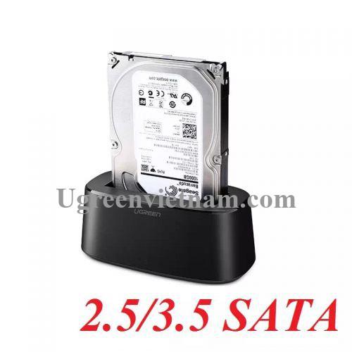 Ugreen 50740 Hộp đọc ổ cứng 2.5 + 3.5 SATA USB 3.0 hỗ trợ 12TB CM197