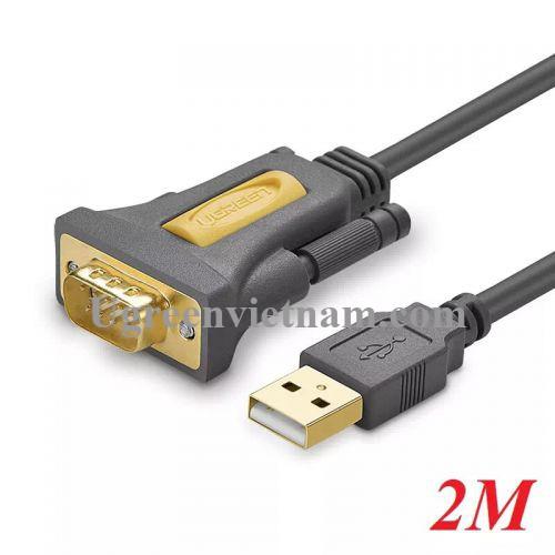 Ugreen 20222 2M Cáp tín hiệu chuyển đổi USB 2.0 sang COM RS232 cao cấp CR104