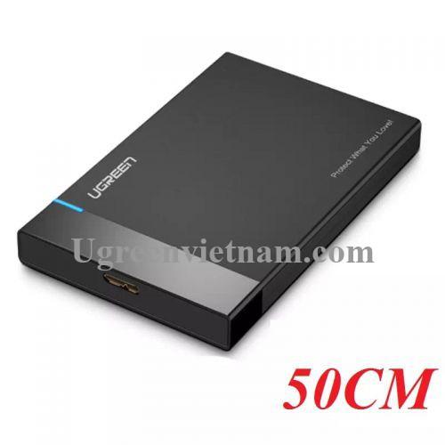 Ugreen 30847 50CM màu Đen Hộp đựng ổ cứng 3.5 chuẩn SATA US221