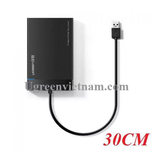 Ugreen 30848 30CM màu Đen Hộp đựng ổ cứng 3.5 chuẩn SATA US221