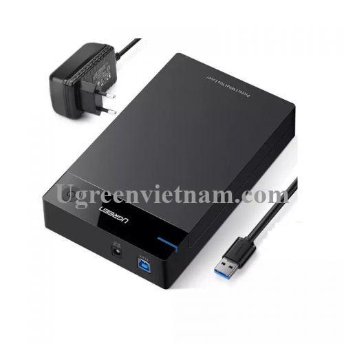 Ugreen 50422 Hộp đựng ổ cứng 3.5 chuẩn SATA hỗ trợ 10TB có cấp nguồn US222