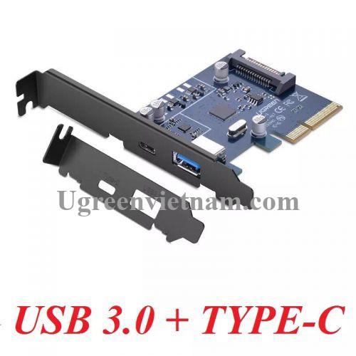 Ugreen 30774 Card PCI Express sang cổng USB 3.0 + TYPE C 3.1 Cao Cấp US230