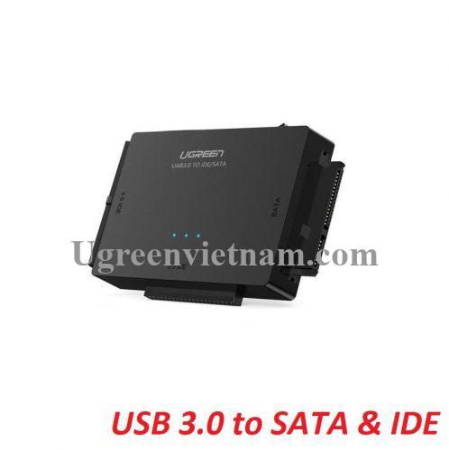 Ugreen 20673 USB 3.0 ra SATA + 3.5 IDE + 2.5 IDE bộ chuyển đổi ổ cứng US160 20020673