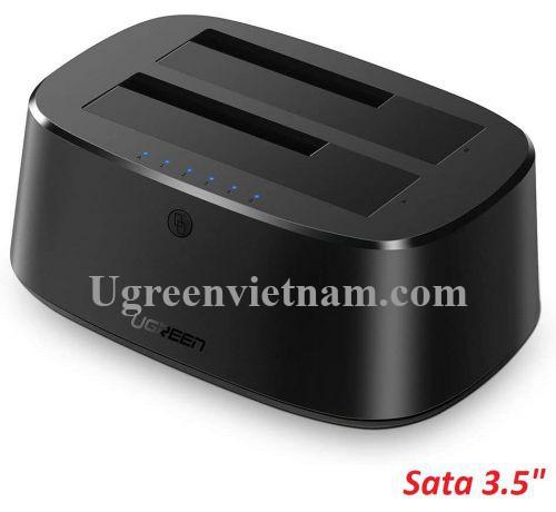 Ugreen 50857 USB 3.0 đế gắn 2 ổ cứng có 2 khay ra SATA EU CM198 20050857
