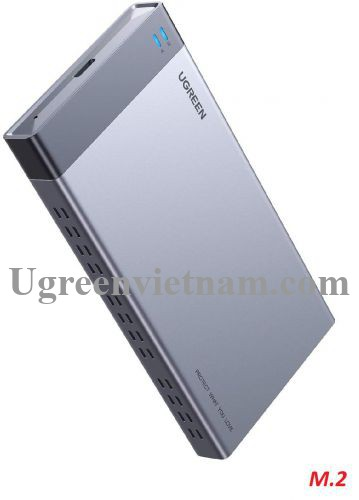Ugreen 70534 usb type c 3.1 gen2 hộp đựng 2 ổ cứng ssd M.2 B-KEY SATA - NGFF Raid 6Gbps CM299 20070534