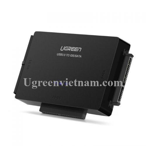 Ugreen 20676 Màu Đen Bộ chuyển đổi USB 3.0 sang SATA IDE 2.5 + 3.5 hỗ trợ nguồn 20676
