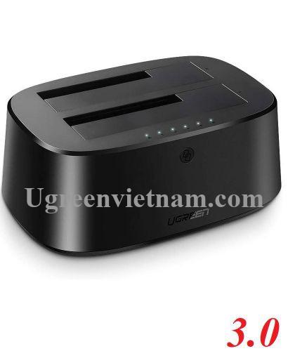 Ugreen 50854 hỗ trợ 16TB hộp docking 2.5 - 3.5inch usb 3.0 sang sata màu đen cao cấp CM198 20050854