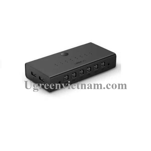 Ugreen 60102 màu Đen Bộ chuyển mạch KVM 1 bộ chuột phím điều khiển đồng bộ 8 máy tính CM229