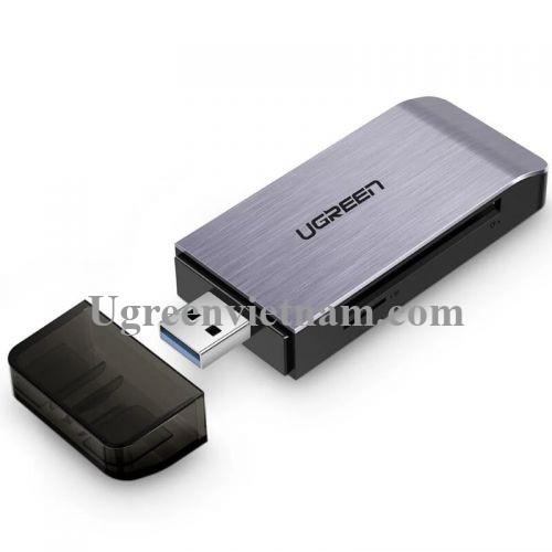 Ugreen 50541 Màu Đen Đầu đọc thẻ USB 3.0 sang SD + TF + CF + MS cao cấp 50541