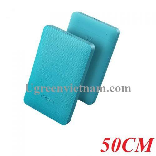 Ugreen 50702 50CM màu Xanh Hộp đựng ổ cứng 2.5 chuẩn SATA CM135