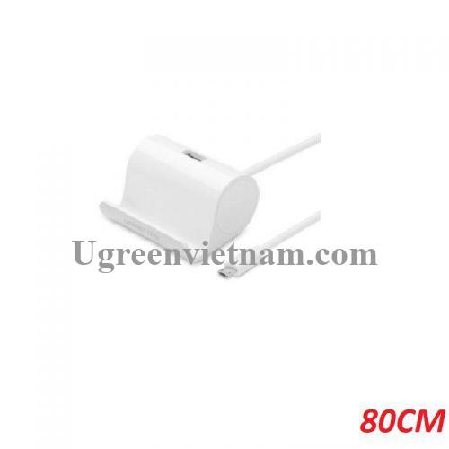 Ugreen 30307 0.8m bộ chuyển OTG màu trắng Micro ra Usb kèm chân đế docking stand 80cm US151 20030307