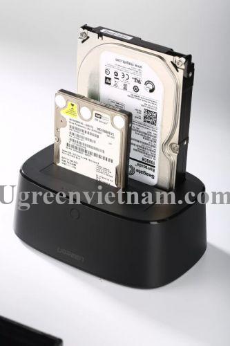Ugreen 50742 Hộp đọc ổ cứng 2.5 + 3.5 SATA USB 3.0 hỗ trợ dung lượng 12TB CM198
