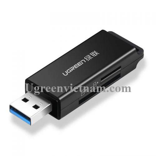 Ugreen 40750 Màu Đen Đầu Đọc Thẻ Nhớ SD/TF USB 3.0 CM104