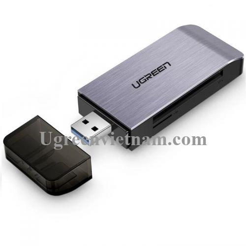 Ugreen 50540 Màu Đen Đầu đọc hỗ trợ 4 loại thẻ SD/TF/CF/MS USB 3.0 CM180