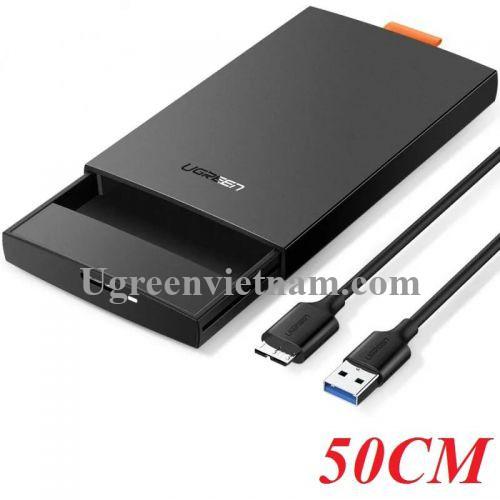 Ugreen 60353 15CM Màu Đen Usb 3.0 To Sata Hard Driver Enclosure Up to 6Tb CM237