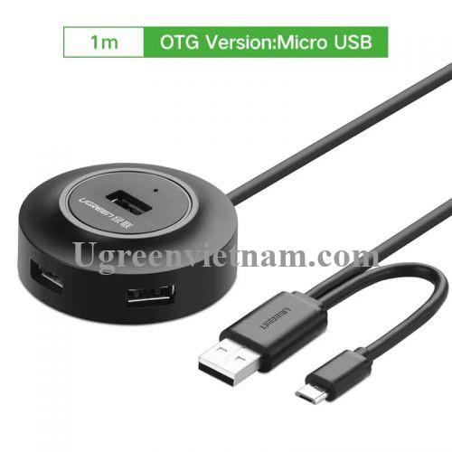 Ugreen 20278 1M màu Đen Bộ chia HUB USB 2.0 sang 4 USB 2.0 hỗ trợ OTG CR106