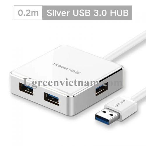 Ugreen 20789 20CM màu Bạc Bộ chia HUB USB 3.0 sang 4 USB 3.0 hỗ trợ nguồn 5V US168