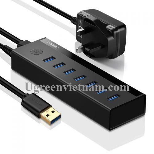 Ugreen 30845 Màu Đen Bộ chia HUB USB 3.0 sang 7 USB 3.0 hỗ trợ nguồn cao cấp US219