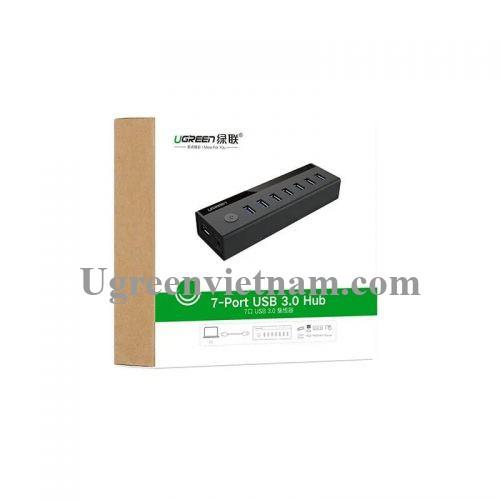 Ugreen 40522 Màu Đen Bộ chia HUB USB 3.0 sang 7 USB 3.0 hỗ trợ nguồn cao cấp US219