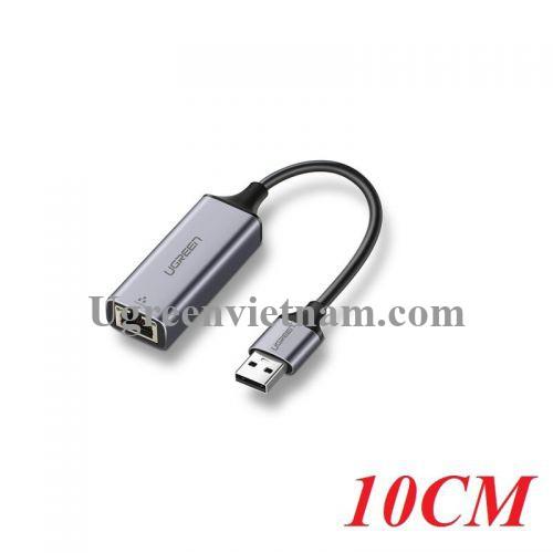 Ugreen 50922 10CM màu Xám Cáp chuyển đổi USB 3.0 sang cổng LAN RJ45 tốc độ hổ trợ 1000 Mbps CM209 20050922
